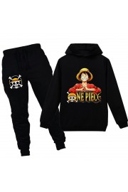 One Piece Luffy Kids Hoodies Cotton Sweatshirts Outfits