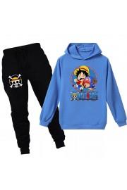 One Piece Luffy Kids Hoodies Cotton Sweatshirts Outfits 1