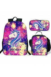 Unicorn Backpack and Lunch box Girls Book bag