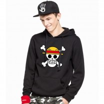 One Piece Anime Hoodies Cotton Person Cranial Fleece Sweatshirts Kids/Adult