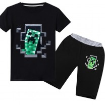 Minecraft T-Shirt Kids Cotton Shirt Funny Youth Tee