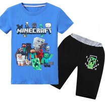 Minecraft T-Shirt Kids Cotton Shirt Funny Youth Tee 1
