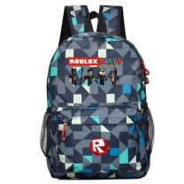 Roblox party backpack plaid bookbag (4 color)