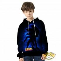 Kids Sonic The Hedgehog Hoodie 3D Print Sweatshirt Fashion Clothing
