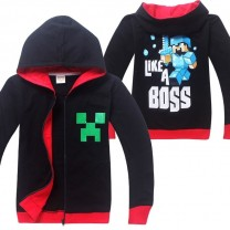 Minecraft Zip Hoodies Kids Cotton Sweatshirts 4